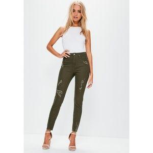 Missguided Sinner Distressed High Waist Jeans